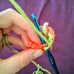 Crochet Yoshi Amigurumi WIP