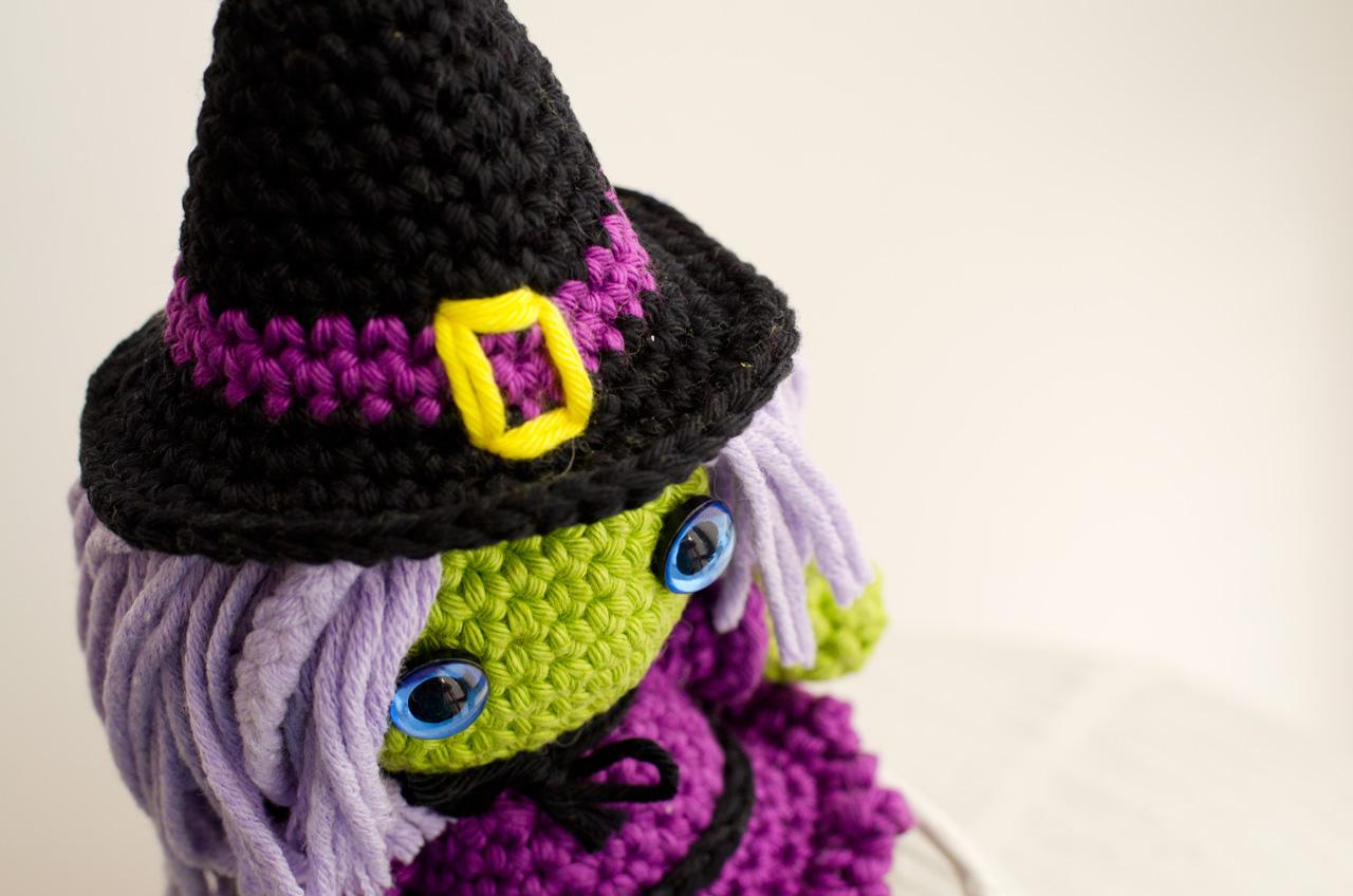 Crochet PATTERN witch / amigurumi doll / tutorial Halloween / pdf ... | 848x1280