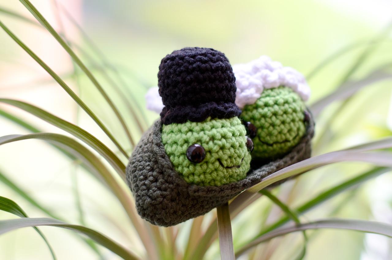 Lion Brand Yarn Erbsenschote Brautpaar Amigurumi Groaaar By Anjizilla